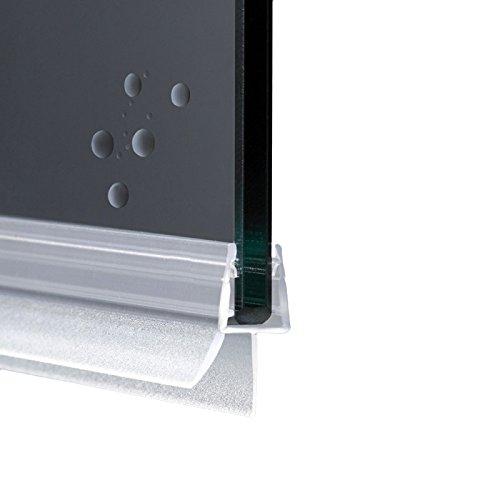Junta para cabina de ducha con perfil horizontal de repuesto con aleta suave desagüe | Cristal 6 mm 8 mm EC-204 (100 cm)