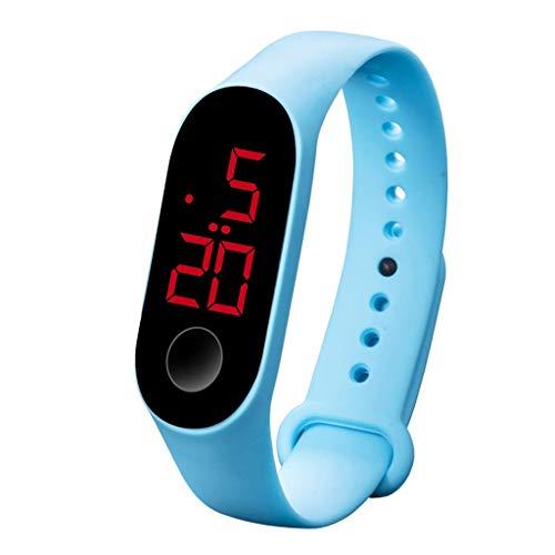 Nuevo Reloj Inteligente Led electrónico Deportivo Sensor Luminoso Relojes Moda Hombres y Mujeres Relojes Multicolores C