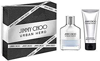 Jimmy Choo Men's Urban Hero Perfume and After Shave Balm Gift Set, 208 ml