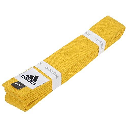 adidas Club, ADIB220D, Gürtel aus Baumwollpiqué, Herren Damen Jungen Unisex, Gelb - Gelb, 220 cm
