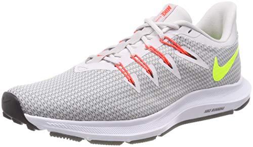 Nike Quest, Scarpe Running Uomo, Multicolore (Vast Grey/Volt/Gunsmoke/Bright Crimson 003), 42 EU