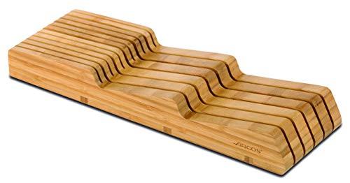 Arcos 794300 Taco Cajonera Organizador Cuchillos, bambú, 39x432x139 mm
