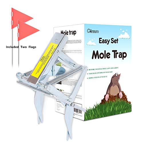 Garsum Plunger Mole Trap Gopher Trap Reusable Quick and Clean Kill,1 Scissor Trap