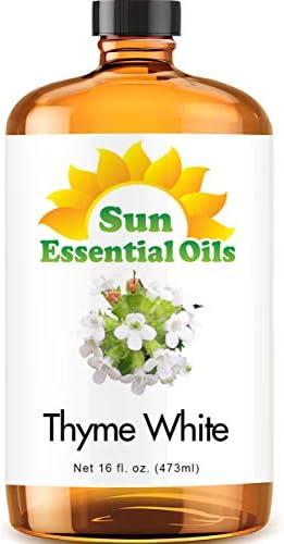 Thyme Essential Oil (Huge 4oz Bottle) Bulk Thyme Oil - 4 Ounce