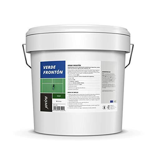 PINTURA PISTAS DEPORTIVAS, pavimentos deportivos en general. Protege y decora las superficies de hormigón, cemento y asfalto (5 kg, VERDE FRONTÓN)