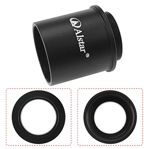 """Alstar C Mount to 1.25"""" Video Camera Barrel Adapter Telescope Astrophotography - for one C-Mount (Male Thread) to 1.25"""" Eyepiece convertor for telescopes"""