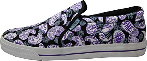 Emerica Skateboard Slip Ons Schuhe Ridgemont Fos Purple Slip On Shoes - Vegan Sneaker Sneakers, Schuhgrösse:41.5