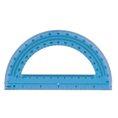 Office Depot Semicircular 6in. Protractor, Clear, 973D OD8 Photo #4