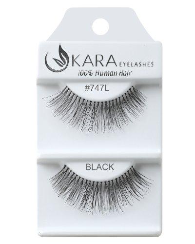 Kara Beauty Human Hair Eyelashes - 747L (Pack of 12)