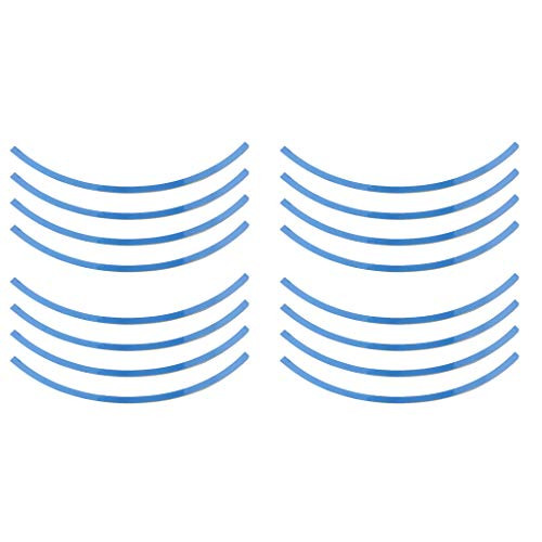 16x Tiras Decal Línea de Borde de Llantas de Ruedas de Auto - Azul para Rueda 14-16 pulgadas de diámetro