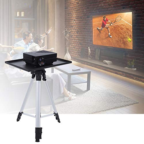 Projector Stand, Portable Aluminum Alloy Laptop Projector Tripod Projector Mounts Bracket 4-Level Height Adjustable Computer Book DJ Equipment Surport Holder Hold up to 13lbs for Stage or Studio