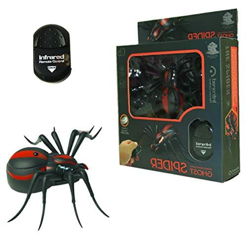 MXECO Novedad Control remoto por infrarrojos Araña Control remoto realista Araña Juguete de araña recargable de largo alcance (negro)