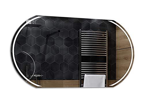 Alasta® | Lichtspiegel mit LED Beleuchtung | Viele Größen | LED Farbe zu Wähle | Wandspiegel Badezimmerspiegel Spiegelwand Spiegel LED Badspiegel | Kair