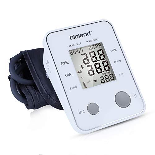 AGM Oberarm-Blutdruckmessgerät Elektronisches, Automatisches Blutdruckmessgerät für den Heimgebrauch, Bluthochdruckanzeige und Herzfrequenzmessung