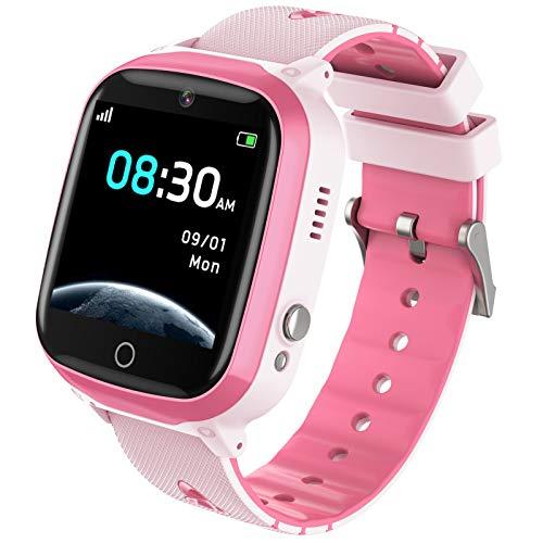 Kinder Smartwatch mit 7 Spiele Musik Player für Jungen Mädchen with HD Touchscreen SOS Handyspiel Smartwatch für Kinder Kamera Wecker Geburtstagsgeschenk by INIUPO (Rosa)