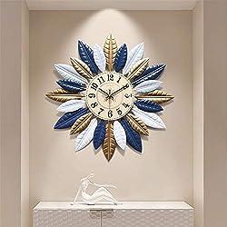 Sunburst Decor Silent Clocks, Fashion 3D Metal Star Burst Wall Clock, Silent Non Ticking Modern Quartz Decor Wall Clock, Large Living Room,20.9,b