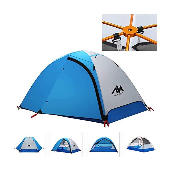 3-4-Season-Backpacking-Tent-for-1-2-Person-AYAMAYA-Winter-Cold-Weather-Ultralight-Double-Layer-Waterproof-2-Doors-2-Top-Vent-Easy-Setup-2-Man-Camping-Tents-for-Backpacker-Hiking-Fishing-Bikepacking