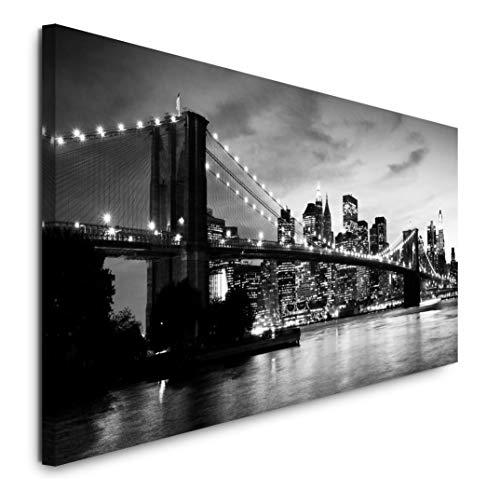Paul Sinus Art GmbH Skyline Manhattan 120x 50cm Panorama Leinwand Bild XXL Format Wandbilder Wohnzimmer Wohnung Deko Kunstdrucke