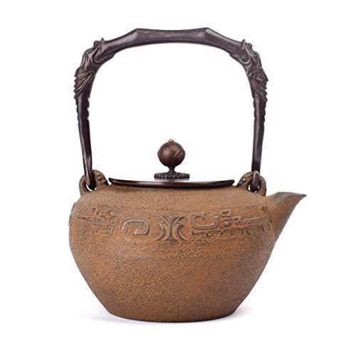 M-CH Tetera El desparafinado teteras de fundición de Hierro de la Tetera de Hogares de Cook Tetera Hecho a Mano Regalos glotón Diseño Retro Caldera de té