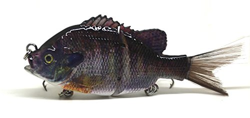 BlitzBite Largemouth Bass Pike Muskie Striper Fishing Lure Bait Swimbait Life-like Panfish Sunfish Bluegill Redbreast Pumpkinseed Bluegill (C)