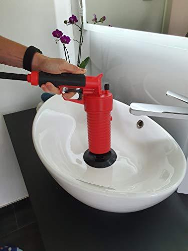 Rothenberger IndustrialPressluft Rohrreiniger (4 bar) zur Reinigung verstopfter Abflüsse im Bad oder WC - 5