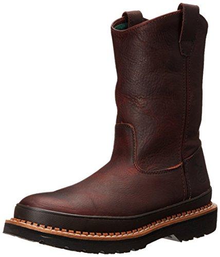 Georgia Boot Men's Giant Steel Toe Pull-On Work Shoe, Soggy Brown, 9 M US