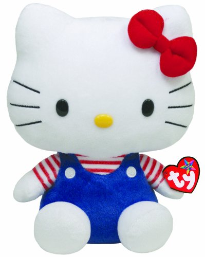 TY 90109 - Hello Kitty Large-Overall blau/rotweiss