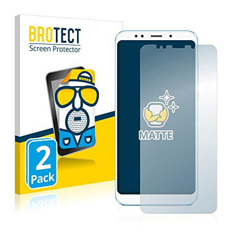 BROTECT 2X Entspiegelungs-Schutzfolie kompatibel mit Xiaomi Redmi 5 Plus Bildschirmschutz-Folie Matt, Anti-Reflex, Anti-Fingerprint