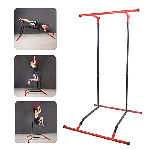 CCLIFE Pull up Bar Barra de dominadas Pull up portátil Portable Peso Corporal Barra dominadas Dip Torre Soporte, Color:Pull Up Bar