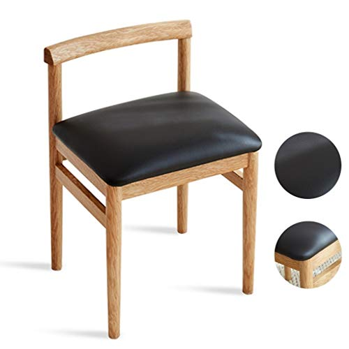 Great Price! Qazxsw Makeup Stool,Back Chair Dressing Chairs Solid Wood Stool Small Dining Stools, Oa...