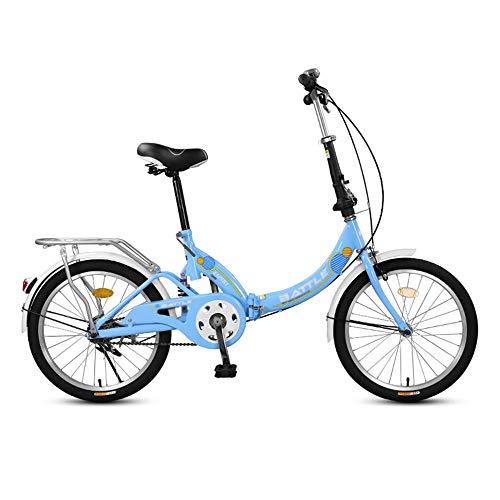 Bicicleta, Bicicleta de CercaníAs PortáTil de 20 Pulgadas, Bicicleta de Choque Recreativa para la Ciudad, Marco Plegable, Frenos Dobles, para Trabajadores de Oficina/Estudiantes/B / 158