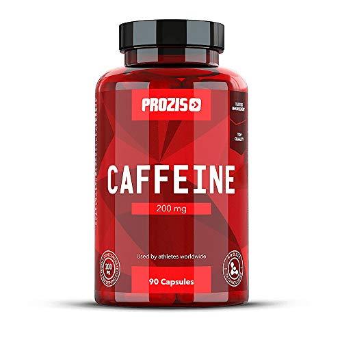 Prozis Cafeína Estimular la Concentración, los Niveles de Energía y la Quema de Grasa, sin Azúcar ni Calorías, Neutro- 200 mg - 90 cápsulas