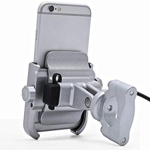 Ramingt-Outdoor Sports fiets-telefoonhouder mobiele telefoonhouder navigatie staan batterij-auto met USB-oplader motorfiets mobiele telefoon standaard met achterkant Mirro r fiets telefoonhouder fietsaccessoires