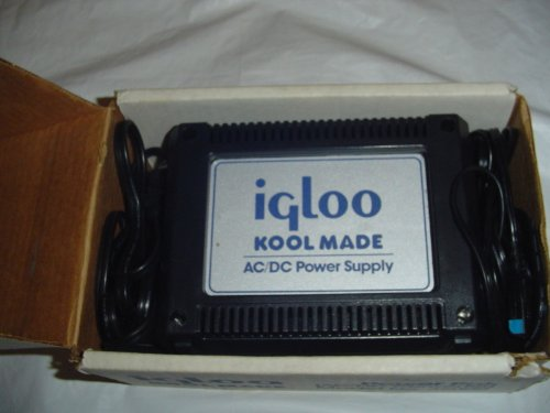 Igloo Kool Made AC / DC Power Supply Model 39000 for Igloo Kool Made 32 and Kool Made 8 Thermoelectric Cooler/Warmers and Other 12 Volt Products