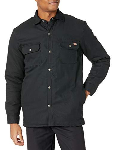 Dickies Herren Flannel Lined Duck Shirt Jacket with Hydroshield Arbeitsoberbekleidung, schwarz, XX-Large