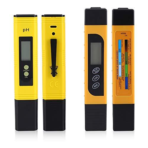 Jinxuny Waterkwaliteit Temperatuur Tester Pen, Digitale LCD PH Meter + TDS Meter voor Aquarium, Visserijindustrie, Zwembaden Hoge Nauwkeurigheid Readout Nauwkeurigheid
