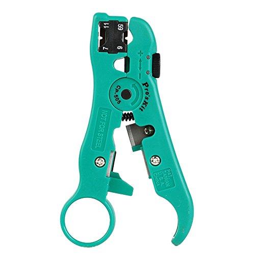 Pro'sKit CP-505universel Bande Outil RG 59/6/11/7Dénudeur de câble Pince à dénuder
