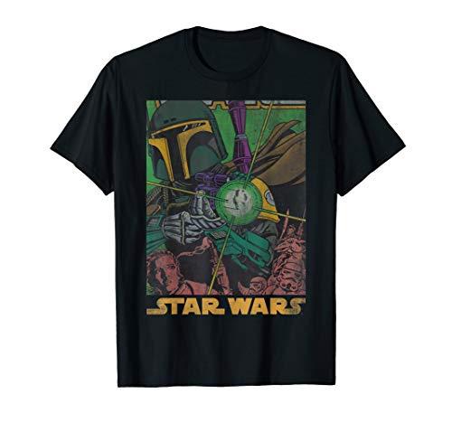 Star Wars Boba Fett Vintage Comic Book T-Shirt