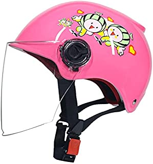 EDTara Kids Scooter Half Helmet Bike Riding Safety Helmet with Transparent Face Cover