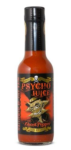Psycho Juice 70% pimienta del fantasma salsa picante