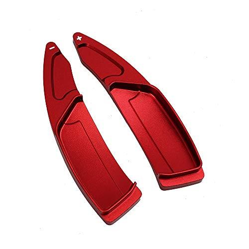 Coche Volante 1pair coche aluminio aluminio cambio de rueda de remo Fit Fit para Peugeot 3008 5008 / GT 2019 2020 Steering Paddle Showers Extension Decorativos para coche (Color : Red)