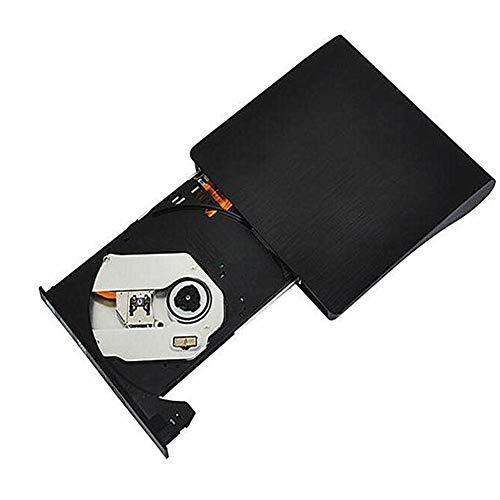 LXXL 3.0 External Optical Drive Burning Fully Compatible Without Driver VCR CD DVD Card Reader Mobile Optical Drive Computer Accessories Hard Drive Accessories-Black