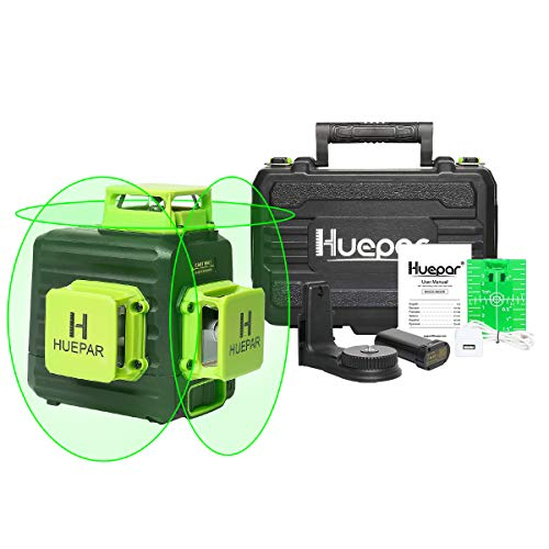 Huepar 3D Cross Line Selfleveling Laser Level 3 x 360 Green Beam ThreePlane Leveling and Alignment Laser Tool Liion Battery with TypeC Charging Port amp Hard Carry Case Included  B03CG Pro