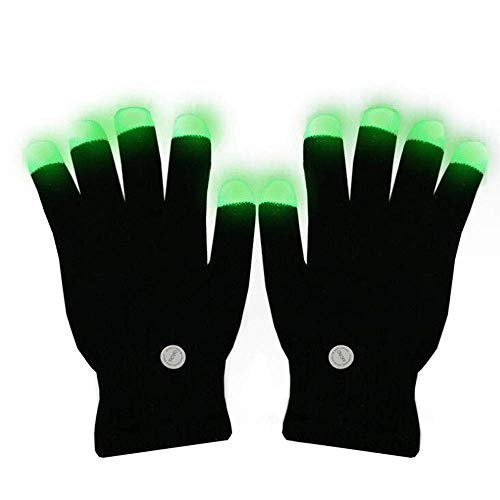 Guantes dedos parpadeantes, Navidad colorida Rave colorida para festivales Accesorios para adultos Guantes ligeros, LED Finger Light Colorful Kids Halloween,...