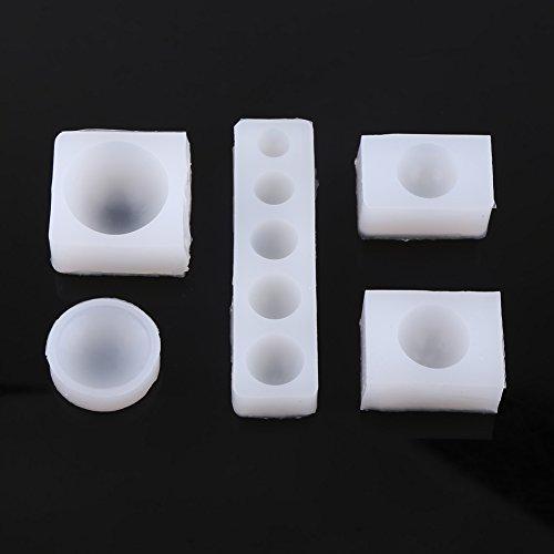 Kit de 5pcs Moules Silicone Assortiments Outils pour DIY Création Desserts Gâteaux Fondant Bijoux Pendentifs Résine