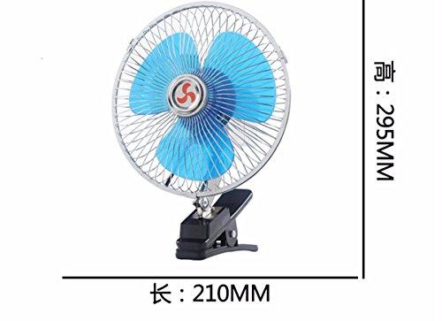 JISHUQICHEFUWU Ventilateur/Voiture avec Petit Ventilateur/Ventilateur Rotatif/pièces Auto, D, 24V