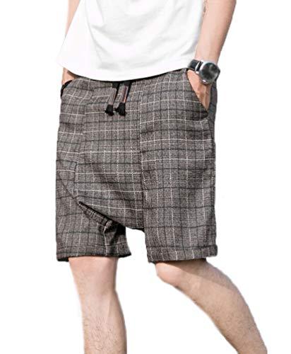 Bermudas Shorts Hombre Moda La Rodilla Pantalones Harem Recto Estilo H