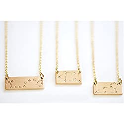 unique constellation jewelry - bar necklace
