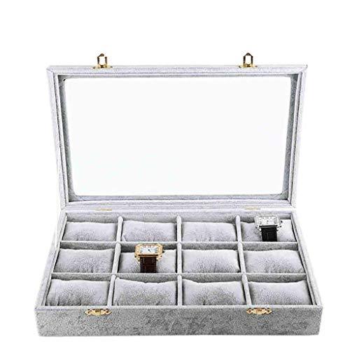 Jewelry Box Sieraden kast 12-positie kijken opbergdoos display box met lucht deksel grote sieraden doos Women's sieraden opbergdoos