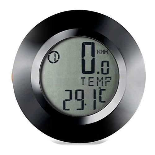 Fahrrad-Kilometerzähler-Tachometer, LCD-Leistungsmesser Fahrradcomputer, Verlängerungshalter Wasserdichter Fahrrad-Tachometer Schwarzer Kilometerzähler Drahtloses Fahrrad für Outdoor-Übungen